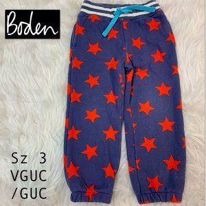 Boden Blue/Purple & Red Star Joggers! Sz 3.